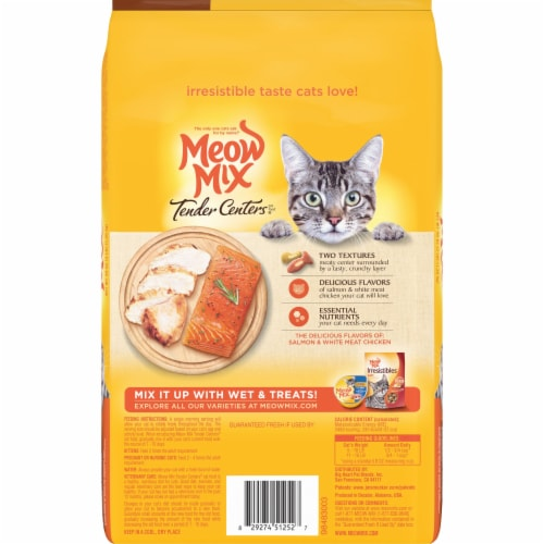 Meow Mix Tender Centers Salmon and Chicken Dry Cat Food Perspective: back