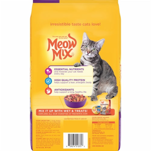 Meow Mix Original Choice Dry Cat Food Perspective: back