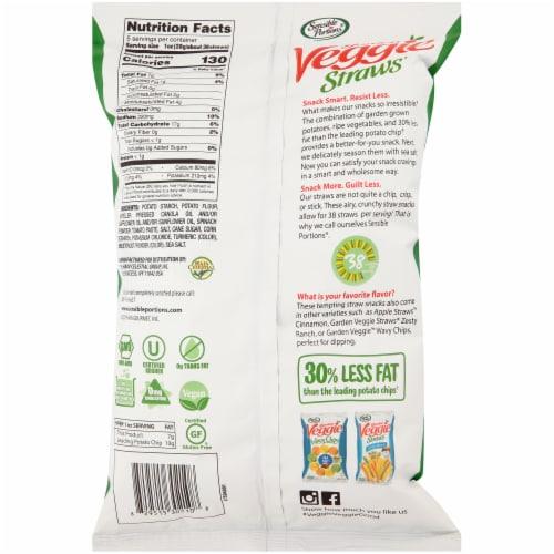 Sensible Portions® Sea Salt Garden Veggie Straws Perspective: back