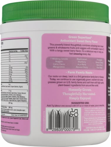 Amazing Grass® Green Super Food Whole Food Supplement Perspective: back
