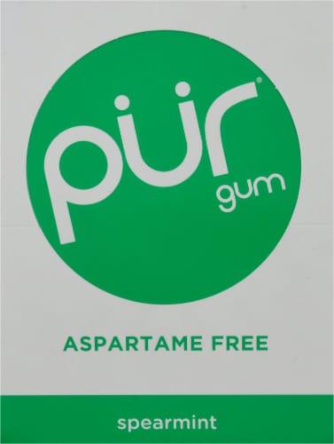 Pur Gum Spearmint Gum Perspective: back