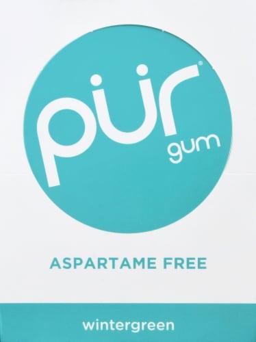 Pur Aspartame Free Wintergreen Gum Multipack Perspective: back
