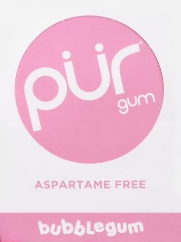 Pur Aspartame Free Bubblegum Gum Perspective: back