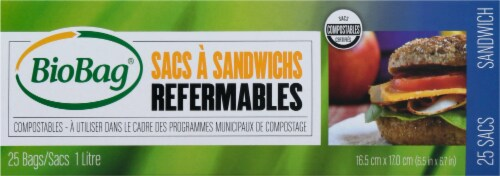 BioBag Resealable Compostable Sandwich Bags Perspective: back