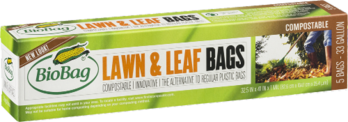 BioBag Compostable 33 Gallon Lawn & Leaf Bags Perspective: back