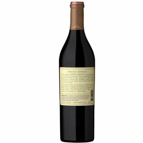 Emmolo Wines Napa Valley Merlot Red Wine Perspective: back