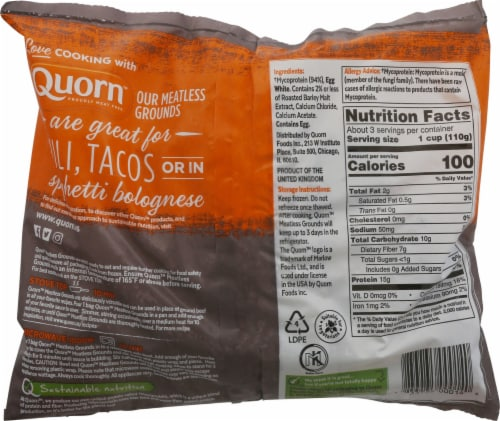 Quorn™ Meatless Grounds Perspective: back