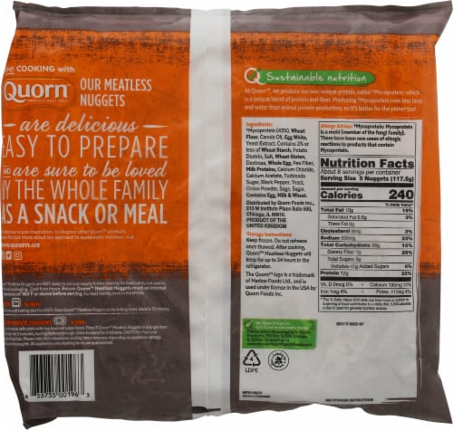Quorn Meatless Nuggets Frozen Meal Perspective: back
