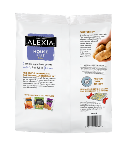 Alexia® House Cut Fries with Sea Salt Perspective: back