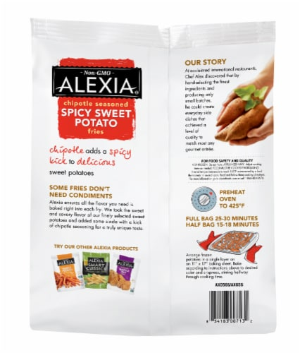 Alexia Chipotle Seasoned Spicy Sweet Potato Fries Perspective: back