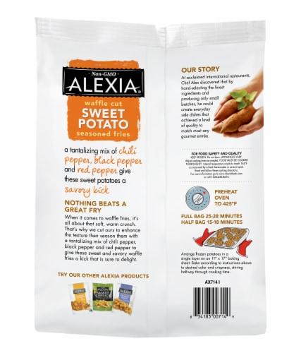 Alexia Waffle Cut Sweet Potato Seasoned Fries Perspective: back