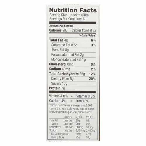 Bakery On Main Instant Oatmeal - Maple Flavor - Case of 6 - 10.5 oz. Perspective: back