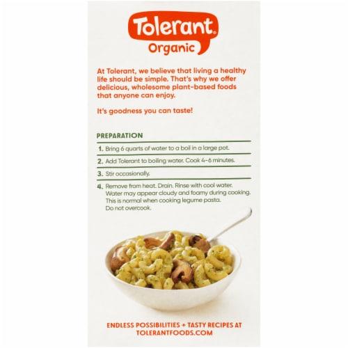 Tolerant Food Organic Green Lentil Pasta Simply Legumes™ Gluten Free Elbow Macaroni Perspective: back
