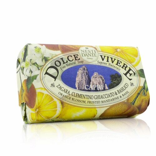 Nesti Dante Dolce Vivere Fine Natural Soap  Capri  Orange Blossom, Frosted Mandarine & Basil Perspective: back