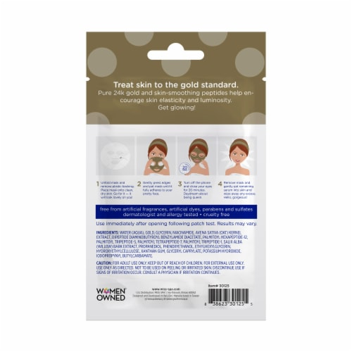 Miss Spa 24K Gold Facial Sheet Mask Perspective: back