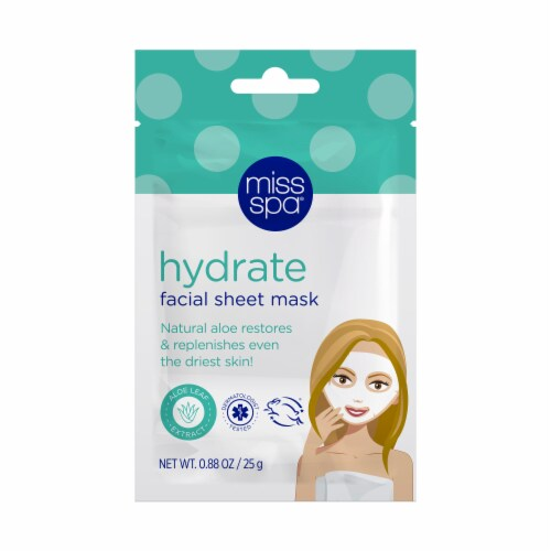 Miss Spa Hydrate Facial Sheet Mask Perspective: back