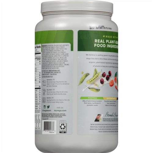 Vega One Coconut Almond All-in-One Shake Drink Mix Perspective: back