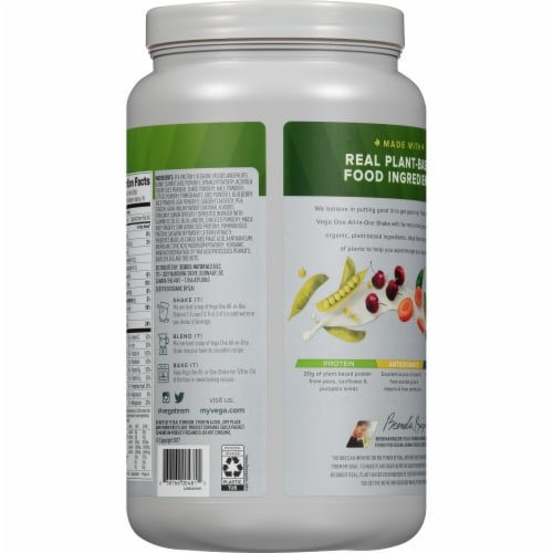 Vega Organic Berry All-in-One Shake Drink Mix Perspective: back