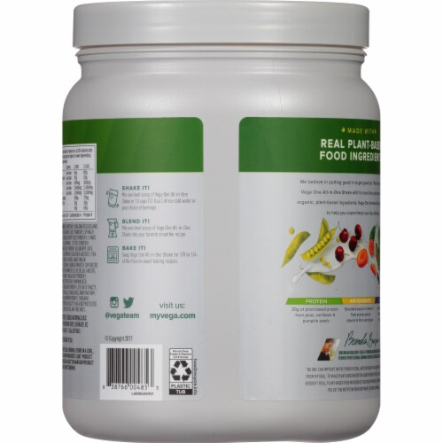 Vega One Coconut Almond Flavored All-in-One Shake Perspective: back