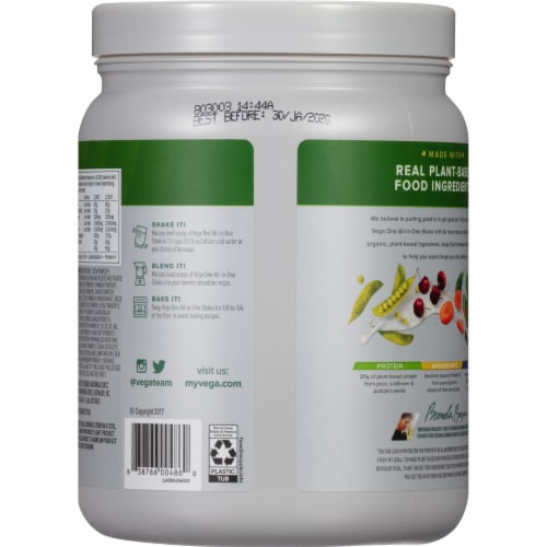 Vega One Mocha Flavored All-in-One Shake Drink Mix Perspective: back