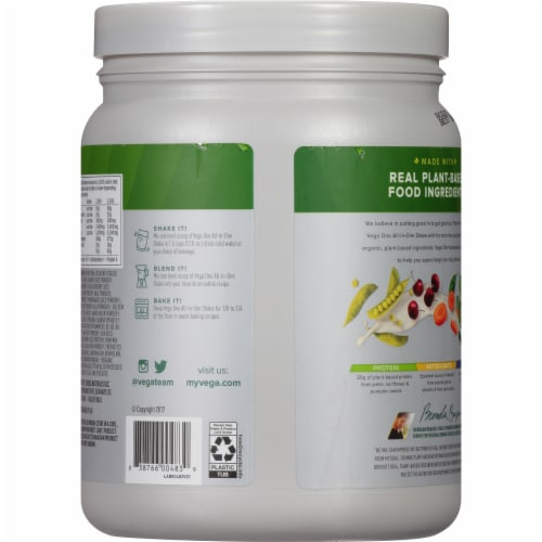 Vega One Plain All-in-One Shake Drink Mix Perspective: back