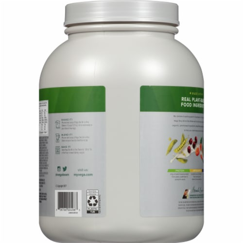 Vega One Organic All-In-One French Vanilla Shake Drink Mix Perspective: back