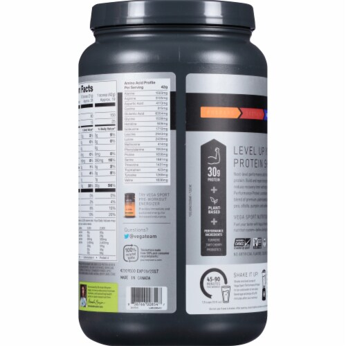 Vega™ Sport Plant-Based Berry Performance Protein Powder Drink Mix Perspective: back