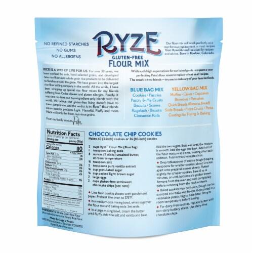 Ryze Gluten-Free Whole Grain Rice Flour Flour Mix Perspective: back