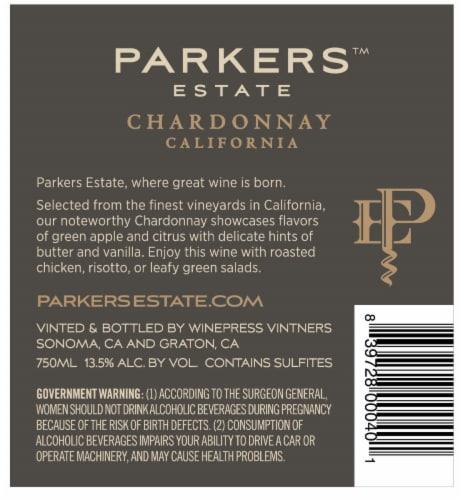 Parker's Estate Chardonnay Perspective: back