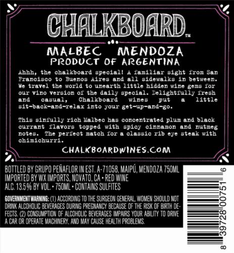 Chalkboard Malbec Perspective: back