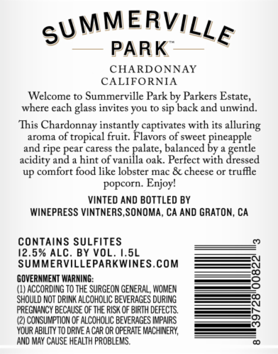 Summerville Park Chardonnay Perspective: back