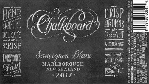 Chalkboard Sauvignon Blanc Perspective: back