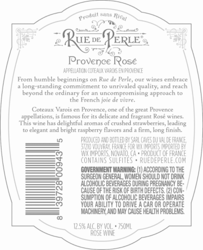 Rue De Perle Provence Rose Perspective: back