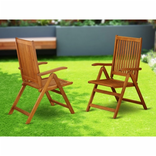 Set of 2 Chairs BCNC5NA 5 Position Outdoor-Furniture folding arm Chair -Set of two Perspective: back