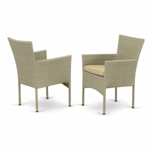 OSBK5-03A 5Pc Outdoor-Furniture Natural Color Wicker Dining Set Perspective: back