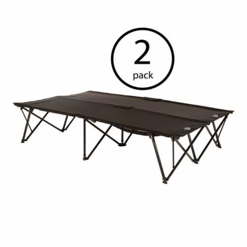 Kamp-Rite 2 Person Compact Indoor and Outdoor Double Kwik Sleeping Cot (2 Pack) Perspective: back