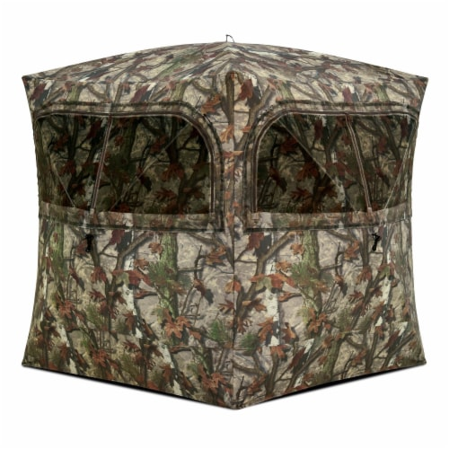 Barronett Grounder 350 Bloodtrail Camo Pop Up Ground Hunting Blind (2 Pack) Perspective: back