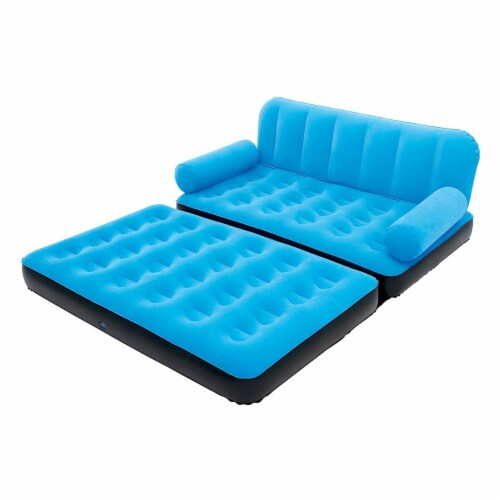 Bestway Multi-Max Inflatable Air Couch or Double Bed with AC Air Pump (3 Pack) Perspective: back