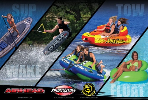 Airhead Spectra Thermal Wakeboard Rope 70 Ft 4 Section Boat Lake Tow (12 Pack) Perspective: back