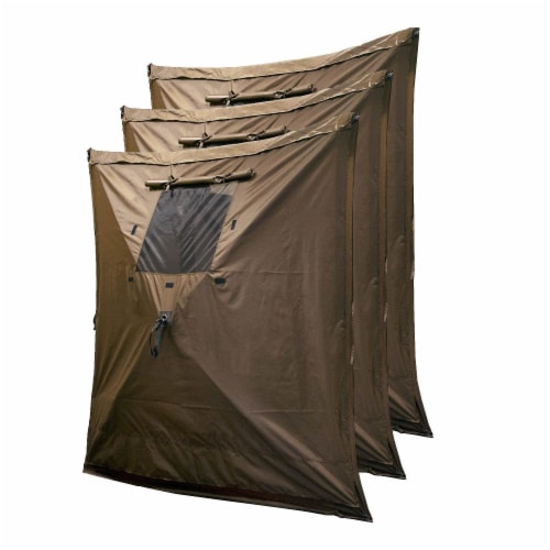 Clam Quick Set Escape Portable Camping Outdoor Canopy Screen with 6 Wind Panels Perspective: back