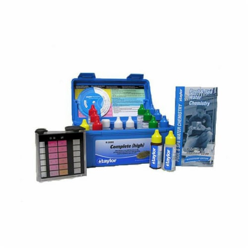 Taylor K2005 Swimming Pool Chlorine Bromine Alkalinity Hardness pH DP Test Kit Perspective: back