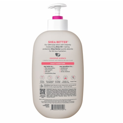 EOS Shea Better Coconut Waters Body Lotion Perspective: back