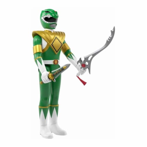 Super7 Power Rangers Green Ranger Reaction Figure Perspective: back
