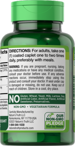 Nature's Truth Bioflavonoids & Rose Hips Vitamin C Tablets 1000mg Perspective: back
