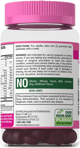 Nature's Truth Women's Multi-Vitamin + Collagen Gummies Perspective: back