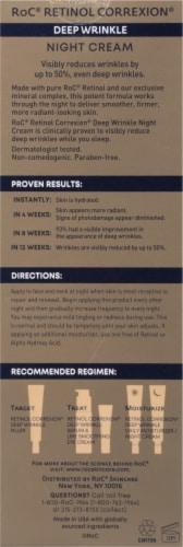 RoC® Retinol Correxion® Deep Wrinkle Night Cream Perspective: back