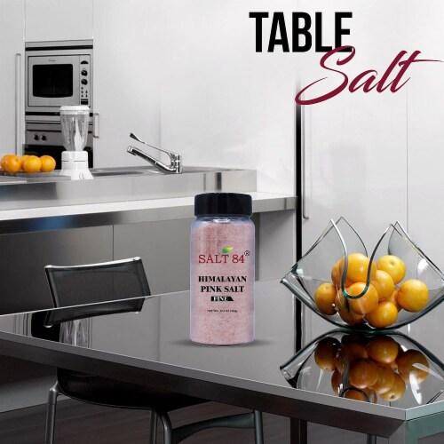 Salt 84 Pink Himalayan Salt, 12.49 Oz Fine Grain Plastic Shaker, Healthy Table Salt – 6 Packs Perspective: back