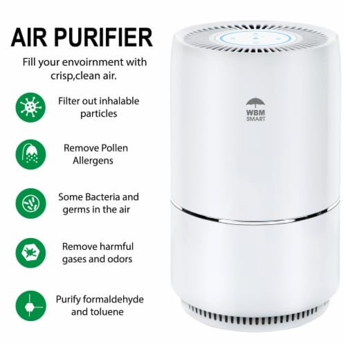 WBM International Air Purifier - White Perspective: back