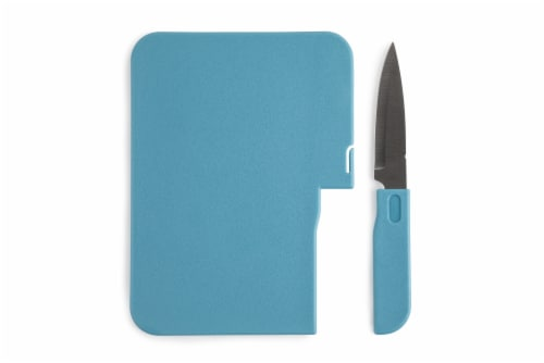 Core Home 2-in-1 Bar Board & Paring Knife Set - Assorted Colors Perspective: back