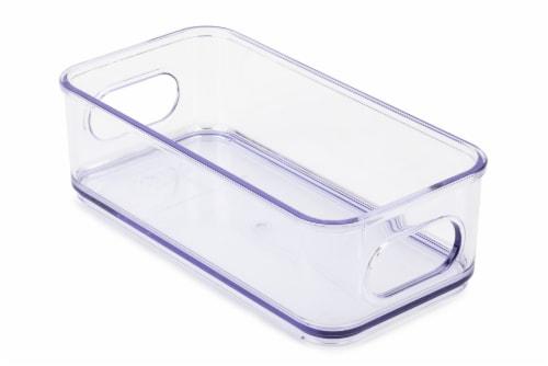 Core Kitchen Plastic Fridge Bin - Clear Perspective: back